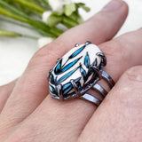 Blue Reed Ring