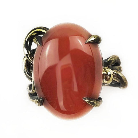 Carnelian Knot Ring - Mettle by Abby