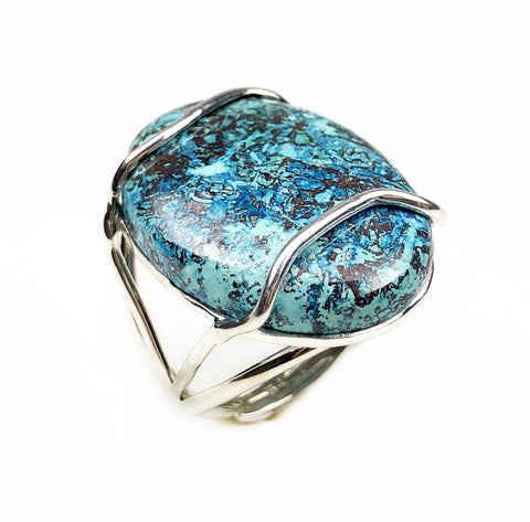 Chrysocolla Ring - Mettle by Abby