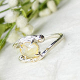Citrine Branch Ring