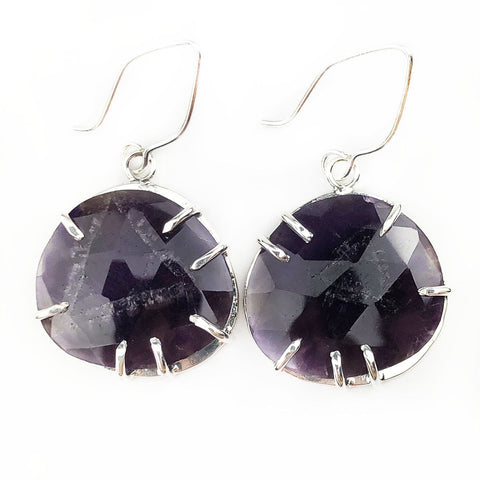 Claw Prong Amethyst Earrings - Mettle by Abby