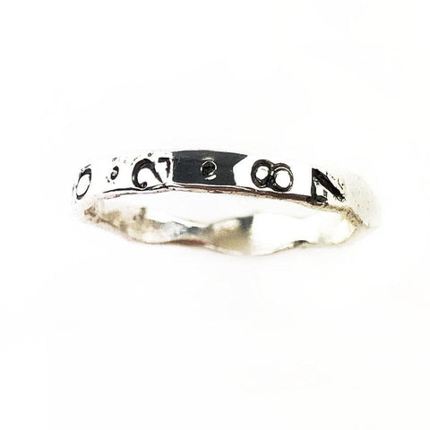 Custom Stamped Sterling Silver Band - Mettle by Abby