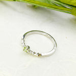 Dainty Peridot Stacking Ring