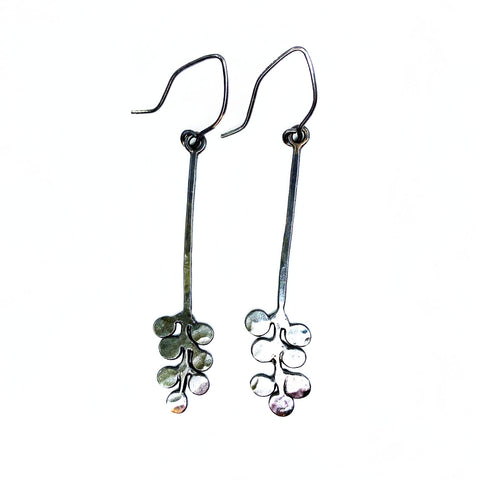 Dark Bubble Fern Earrings