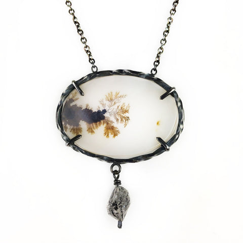 Dendrite Lavalier Necklace - Mettle by Abby