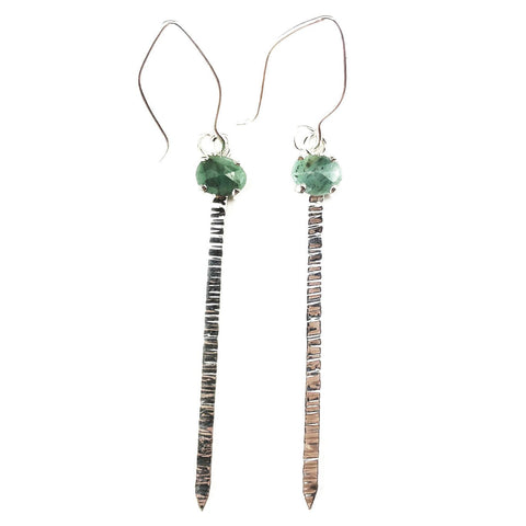 Emerald Blade Earrings - Mettle by Abby