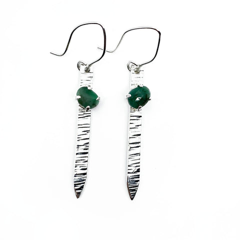 Emerald Blade Earrings