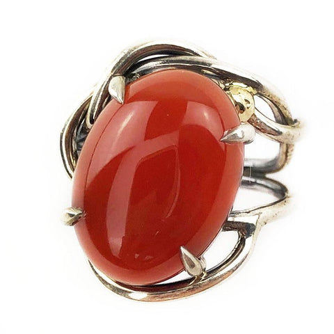 Entwined Carnelian Ring - Mettle by Abby