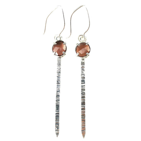 Garnet Blade Earrings - Mettle by Abby