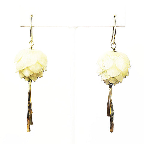 14k Blooming Lotus Earrings - Mettle by Abby