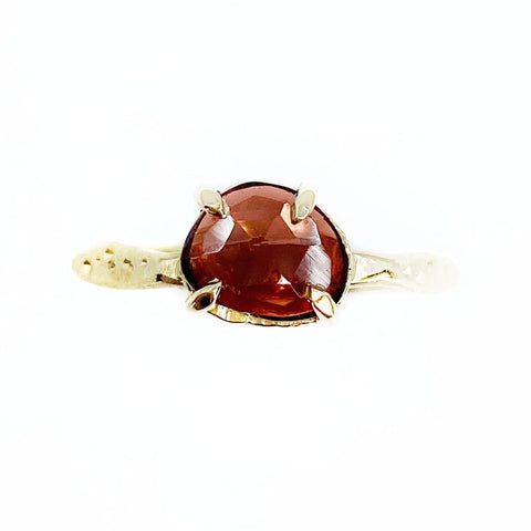 Gold Rose Cut Garnet Star Dust Ring - Mettle by Abby