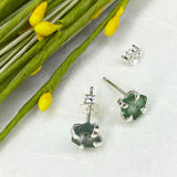 Green Watermelon Tourmaline Studs