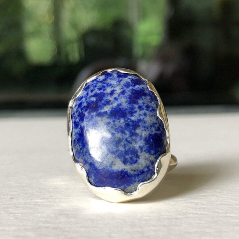 big lapis ring handmade