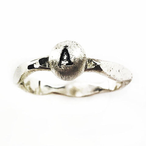 Initial Pebble Ring - Mettle by Abby