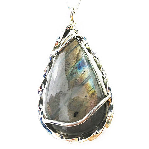 Labradorite Tear Drop Necklace - Mettle by Abby
