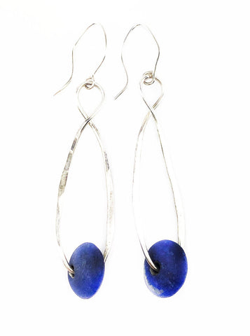 Lapis Drops Earrings - Mettle by Abby