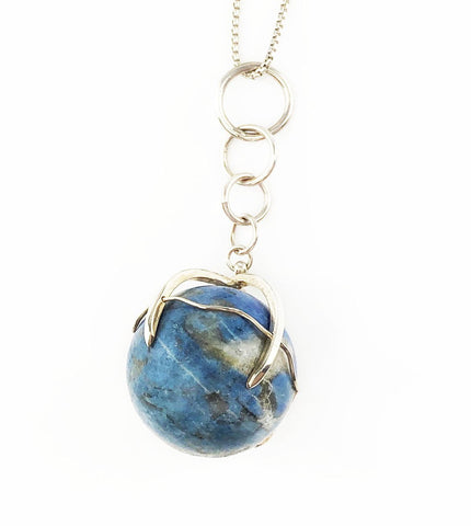 Lapis Globe Necklace - Mettle by Abby