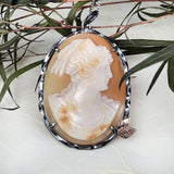 Large Vintage Cameo Necklace - Mettle by Abby