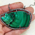 Malachite Slice Necklace