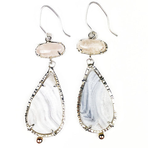 Sparkling Mist Chandelier Earrings - Mettle by Abby