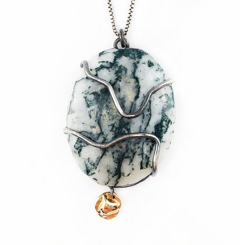 Marbled Moss Necklace - Mettle by Abby
