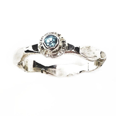 Mother's Birthstone Ring with Silver Halo - Mettle by Abby