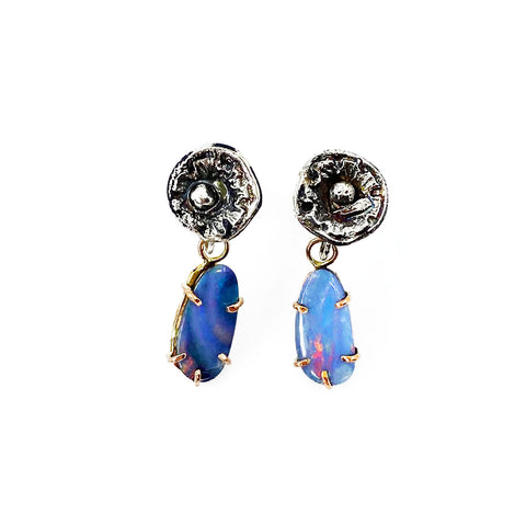 Opal Blossom Earrings