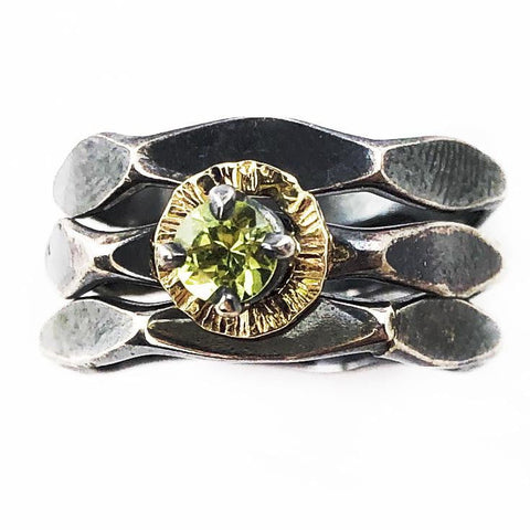 Peridot Stacker Ring - Mettle by Abby