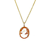 Petite Cameo Necklace in Gold