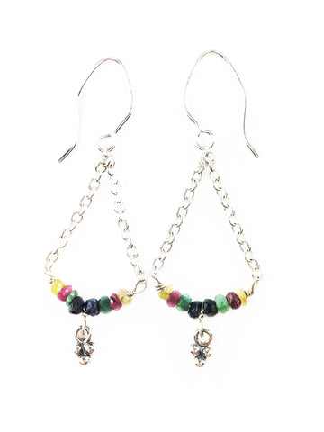 Petite Gem Fiesta Earrings - Mettle by Abby