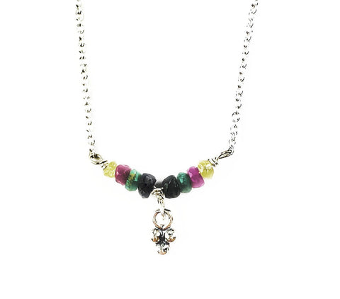 Petite Gem Fiesta Necklace - Mettle by Abby