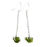 Raw Peridot Drop Earrings