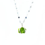 Raw Peridot Necklace