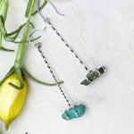 Raw Turquoise Drop Earrings