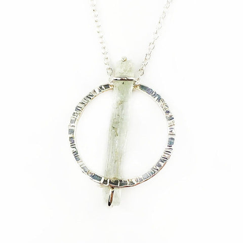 Raw Aquamarine Crystal Pendant - Mettle by Abby