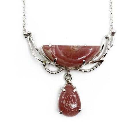 Rhodochrosite Wreath Necklace