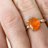 Rose Cut Carnelian Ring