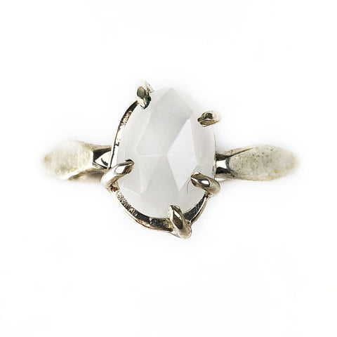 Rose Cut Moonstone Ring - Mettle by Abby