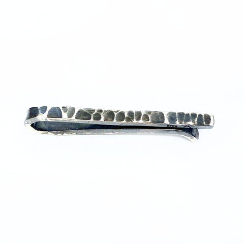 Rough and Tumble Silver Tie Clip
