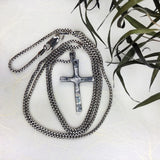 Rugged Cross in Silver - Mettle by Abby