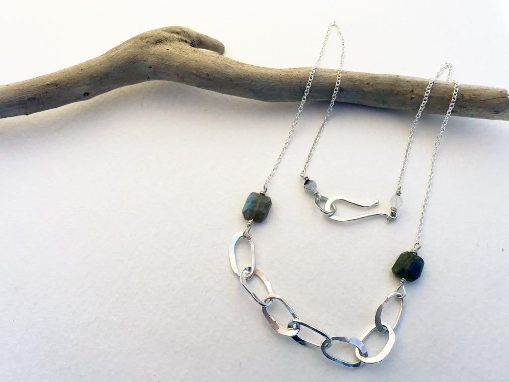 Sterling Silver Links Necklace