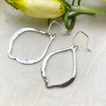 Silver Hammered Drop Earrings