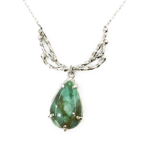 Silver Mantel Chrysoprase Necklace