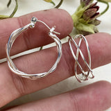 Silver Braid Hoops - Mettle by Abby