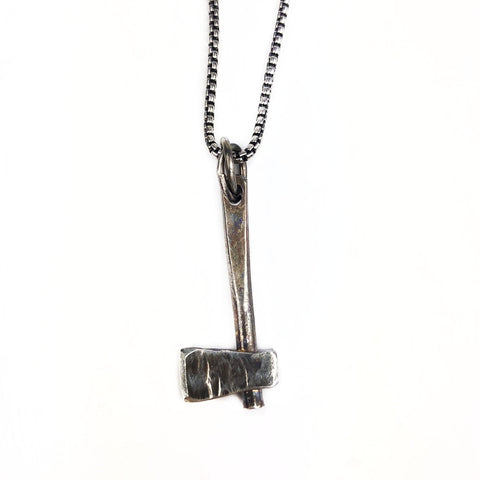 Silver Hatchet Necklace - Mettle by Abby