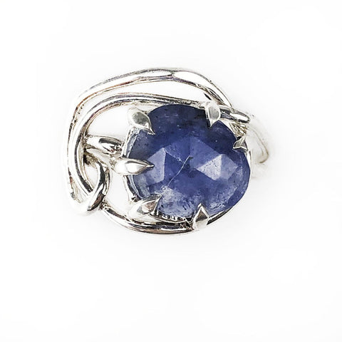Silver Tanzanite Entangled Ring - Mettle by Abby