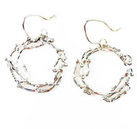 Bright White Wreath Earrings - Mettle by Abby