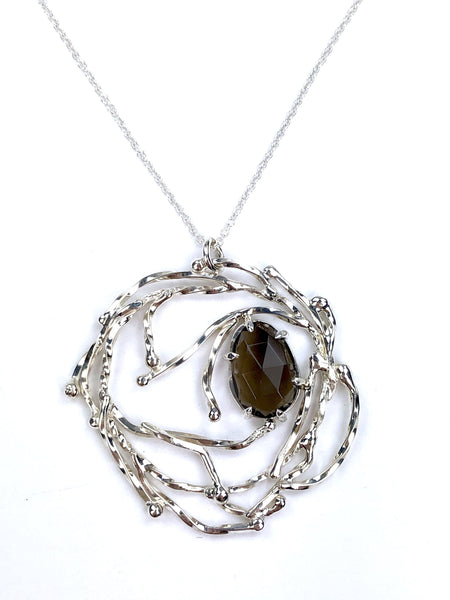 Smokey Quartz Wreath Necklace