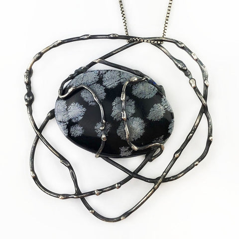 Night Flurries Necklace - Mettle by Abby