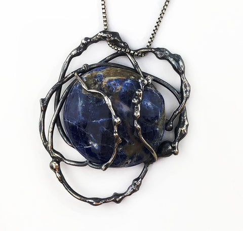 Sodalite Seaweed Tangle Necklace - Mettle by Abby